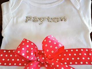 Baby shower onesie idea