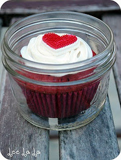 Red Velvet Cupcake in a Jar
