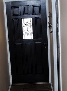 Paint the door BLACK!