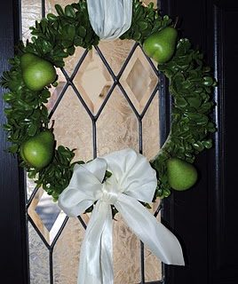 DIY Green Pear Wreath