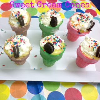 Sweet Cream Cones {Recipe}