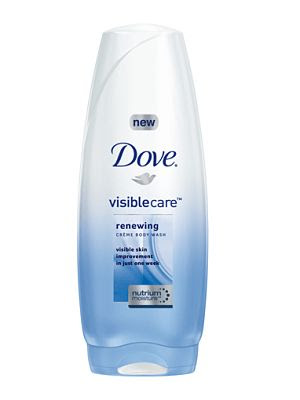 Dove Visible Care Renewing Creme Body Wash makes my skin happy