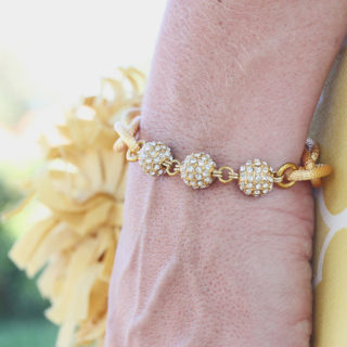 Oia Jules Gold Chain Link Pave Ball Bracelet GIVEAWAY