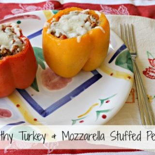 Healthy Turkey & Mozzarella Stuffed Peppers