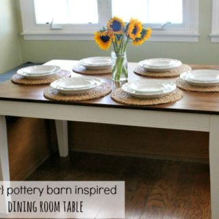 DIY Pottery Barn Inspired Dining Table