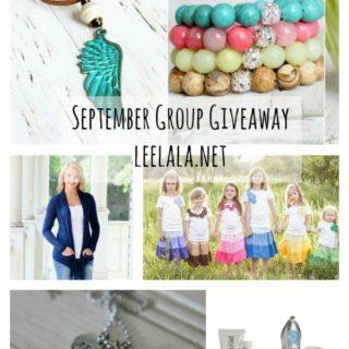 September Group Giveaway: a $450 value