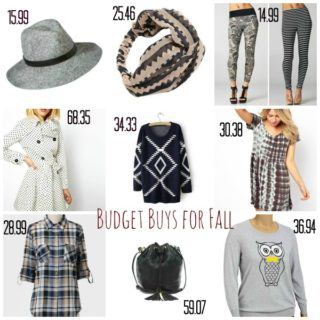 Budget Buys for Fall