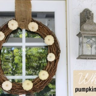 DIY Fall White Pumpkin Wreath