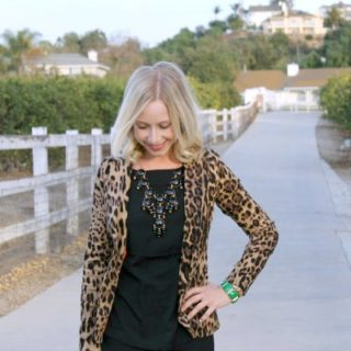 Style: All black & leopard