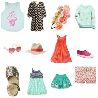 A spring fashion board for your little miss